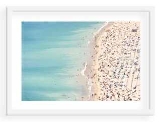 "John Harper, Ondarreta Beach, Spain - 40"" x 29"" - White Frame- With mat - One Kings Lane"