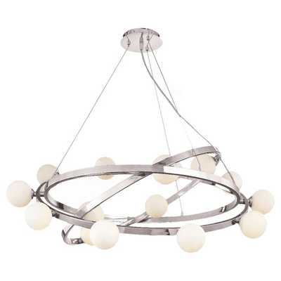 Nitrogen 15 Light Cable Articulating Chandelier with Opal Glass - AllModern