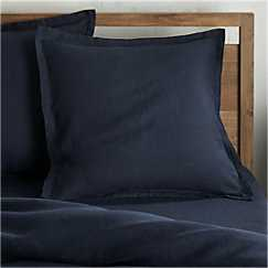 Lino II Flax Linen Euro Sham - Crate and Barrel