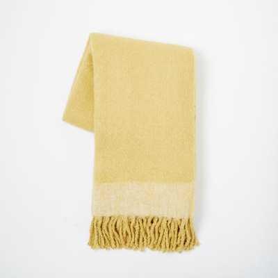 Cozy Texture Throw - Horseradish - West Elm