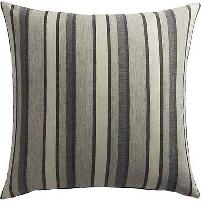 """The Hill-Side workwear blanket stripe 20"""" pillow- grey and white- with down-alternative insert - CB2"""
