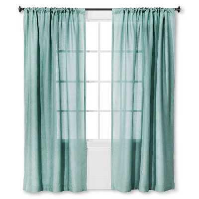 "Metallic Curtain Panel - Thresholdâ""¢-Blue-84"" - Target"