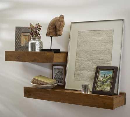 Rustic Wood Shelf, 4', Vintage Spruce stain - Pottery Barn