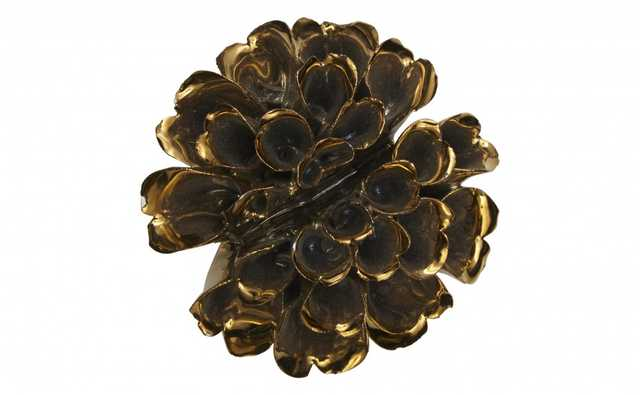 GILDED CERAMIC FLOWER - SMALL - Jayson Home