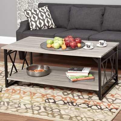 Simple Living Seneca XX Black/ Grey Reclaimed Look Cocktail Table - Overstock