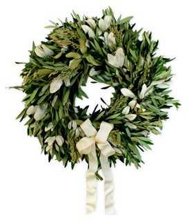 "18"" Olive & Integrifolia Wreath, Dried - One Kings Lane"