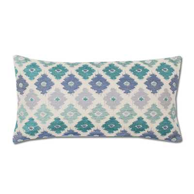 """The Teal Flowers Throw Pillow - 12"""" by 24"""" - no insert - Crane & Canopy"""
