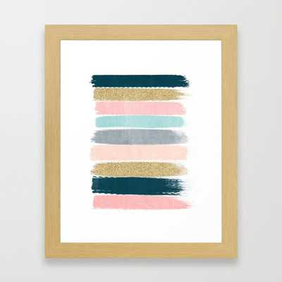 "Zara - NATURAL MINI (10"" X 12"") - Framed - Society6"
