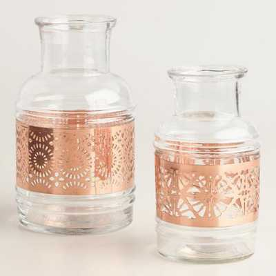 Copper Laser Cut Glass Vase - World Market/Cost Plus