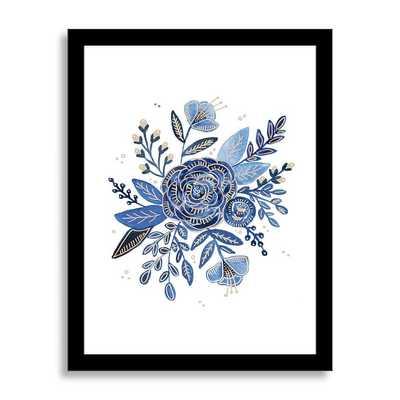 """Violets are Blue - 14"""" x 18"""" - Framed - West Elm"""