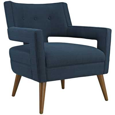 SHEER FABRIC ARMCHAIR IN AZURE - Modway Furniture