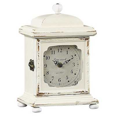 Wood Mantle Clock - Cream - Target