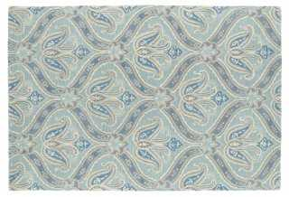 Juno Rug, Spa Blue - One Kings Lane