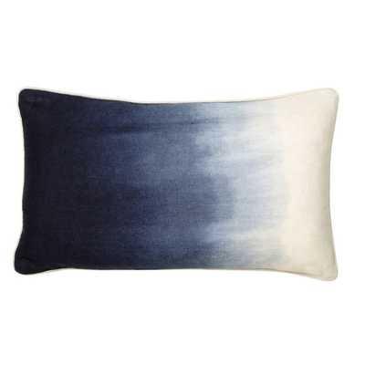 Sumatra Linen Ombre Throw Pillow - 18x20 - Indigo - Insert Sold Separately - Overstock