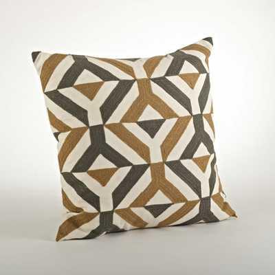 Nelli Ari Embroidered Cotton Throw Pillow - AllModern