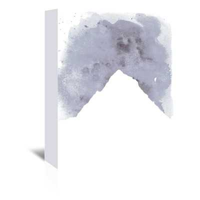 """Watercolor Gray Mountain Painting Print on Wrapped Canvas-24""""  x 20"""" -Unframed - Wayfair"""