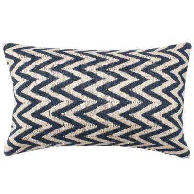 "Dhurri Style Pillow -21"" L X 13"" W-no insert - Domino"