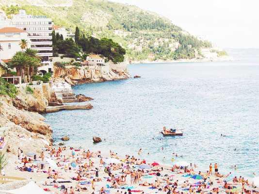 Dubrovnik Cliffside Beach Print - 20x30 - Unframed - Etsy