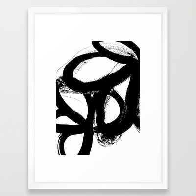 "Wild tulips - FRAMED ART PRINT/ VECTOR WHITE MEDIUM (GALLERY) (20"" X 26"") - Society6"