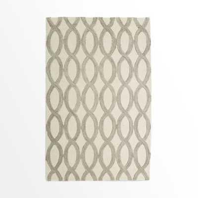 Linking Loops Wool Rug - Ivory - 8' x 10' - West Elm