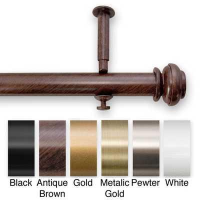 Bold Pole 90 to 144-inch Adjustable Curtain Rod Set - Overstock