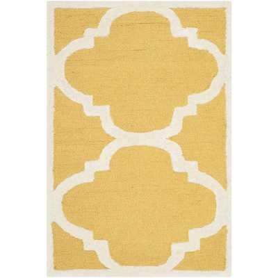 Cambridge Gold & Ivory Area Rug - 10' x 14' - AllModern