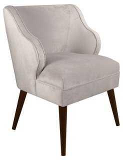 Kira Chair, Dove Gray Velvet - One Kings Lane