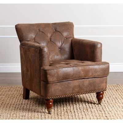 ABBYSON LIVING Tafton Antique Brown Fabric Club Chair - Overstock