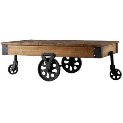 TRIBECCA HOME Myra Vintage Industrial Modern Rustic 47-Inch Cocktail Table - Overstock