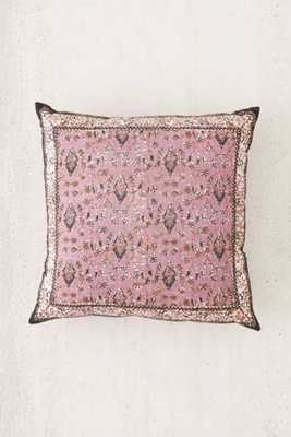 """Palisades Floral Pillow- Purple- 24""""l x 24""""w- Poly fill insert - Urban Outfitters"""