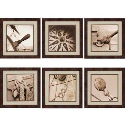 Nautical by Kahn 6 Piece Framed Photographic Print Set - Wayfair