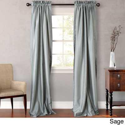 Heritage Landing Faux Silk Lined Drape Set - Sage - Overstock