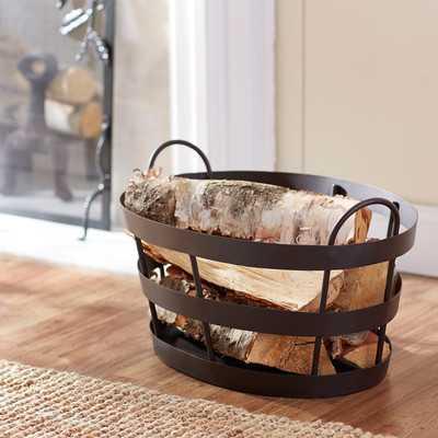 Bates Wrought Iron Basket - Wayfair