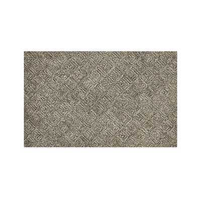 Curtis Flint Grey Wool-Blend 5'x8' Rug - Crate and Barrel