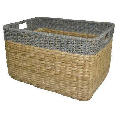 "Seagrass Extra Large Rectangle Storage Basket - Gray Trim - Thresholdâ""¢ - Target"