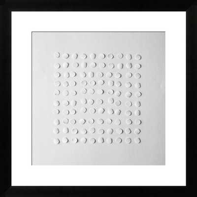 """Abstract paper design on white paper - 18"""" x 18"""" - White Frame with mat - Photos.com by Getty Images"""