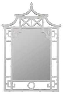 Leopold Wall Mirror, White - One Kings Lane