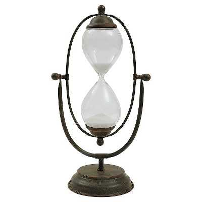 Decorative Metal and Glass Hour Glass - Target