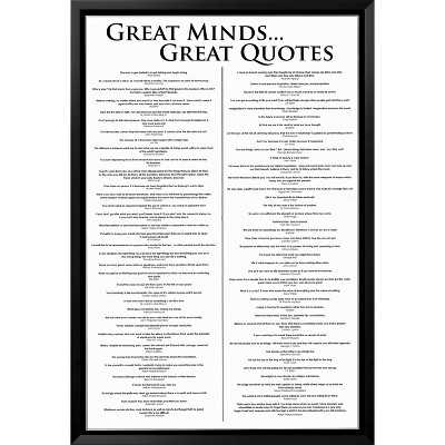 Great Minds Great Quotes Framed Poster - 37.750 H x 25.750 W - Black Frame - Target