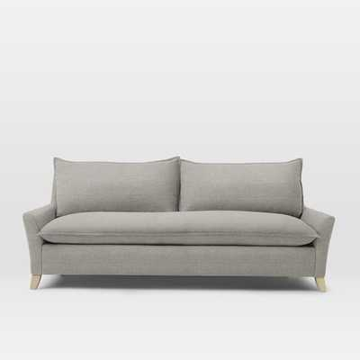 """91.5"""" Bliss Down-Filled Sofa - Shadow Weave, Platinum - West Elm"""