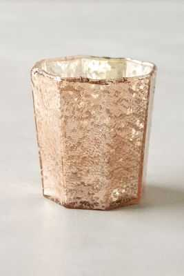 Bubbled Mercury Glass Votive - Anthropologie