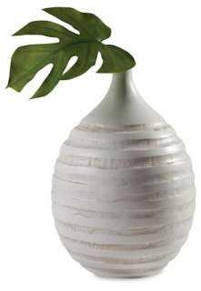 Carved-Ring Bulb Vase - One Kings Lane