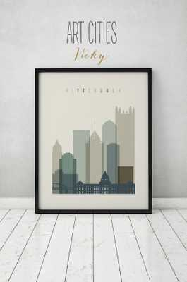 Pittsburgh print-24x36-Unframed - Etsy