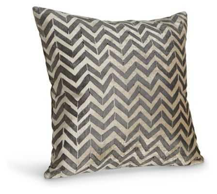 albraith & Paul Herringbone Pillow - Black, 18x18, With Insert - Room & Board