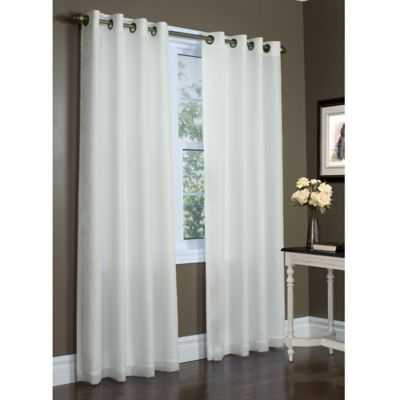 Commonwealth Home Fashions Rhapsody 84-Inch Double Wide Grommet Top Window Curtain Panel in Ivory - Bed Bath & Beyond