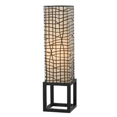 """Fortress 28"""" H Table Lamp with Rectangular Shade - AllModern"""