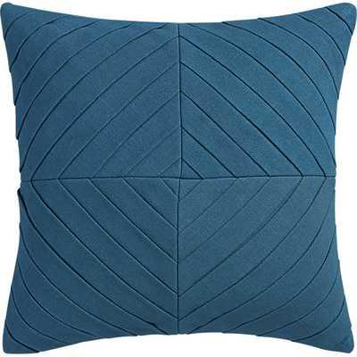 "Meridian blue-green 16"" pillow with down-alternative insert - CB2"