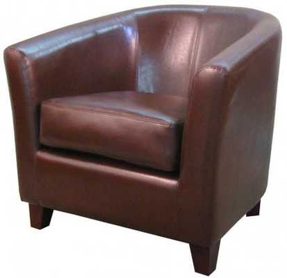 Robertson Bonded Leather Chair Brown - Apt2B