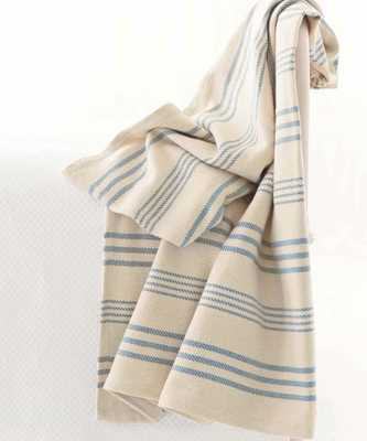 "Swedish Stripe Woven Cotton Throw - 60"" x 78"" - Bliss Home and Design"