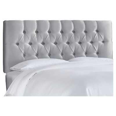 Edwardian Tufted Headboard Faux Silk - Skyline Furniture-King - Target